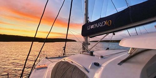 Leopard 40 at Sea