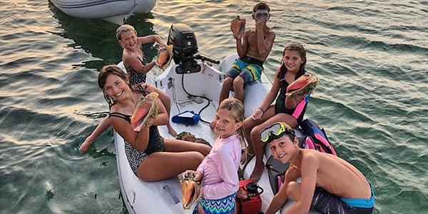 boat kids